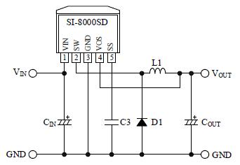 产品系列 集成电路 电源管理集成电路 dc/dc转换器集成电路 si-8050sd