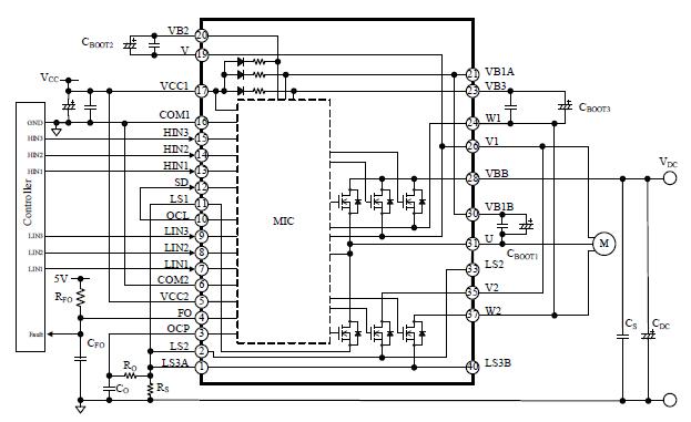 igbt dc motor sd control circuit