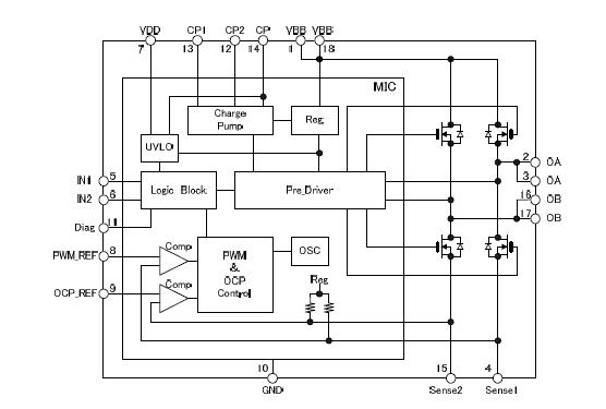 集成电路 电机驱动器集成电路 低压 有刷dc电机驱动集成电路 sta6940m