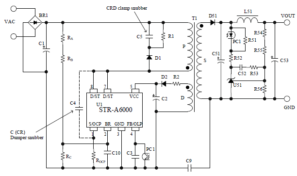 Dc To Ac Converter >> STR-A6051M  Sanken Electric