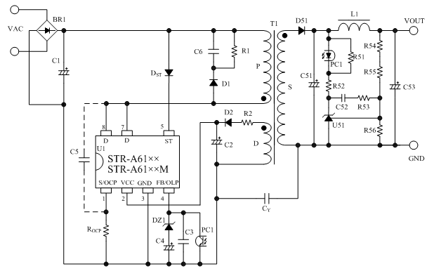 Str A Tcd En on dc voltage converter circuit
