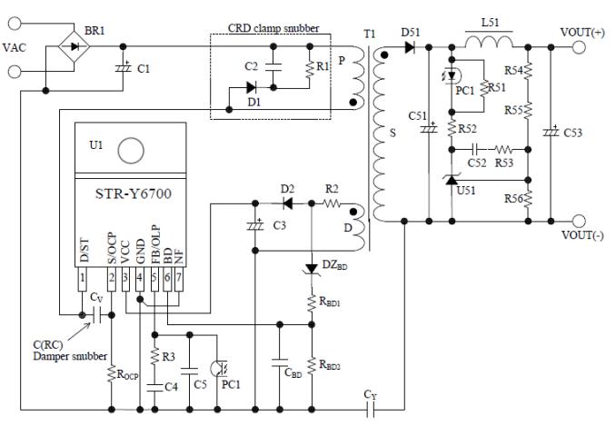 schematic circuit diagram str