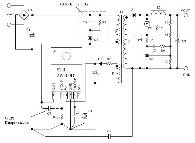 集成电路 电源管理集成电路 ac/dc转换器集成电路 mos内置 str2w152d