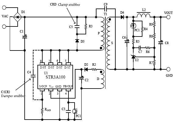 集成电路 电源管理集成电路 ac/dc转换器集成电路 mos内置 str3a152